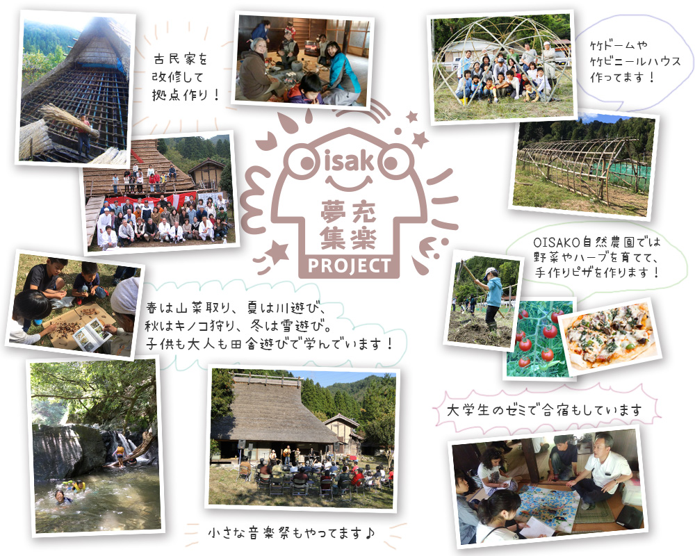 OISAKO夢充集楽プロジェクト 活動イメージ